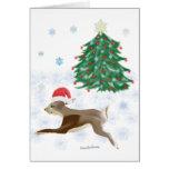 Santa Bunny Greeting Cards