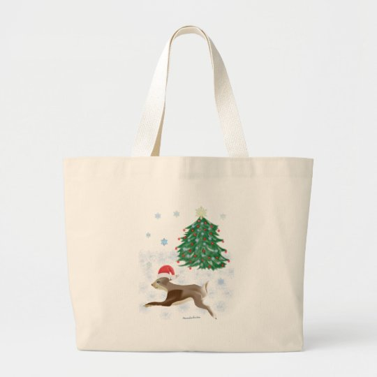 Santa Bunny Large Tote Bag