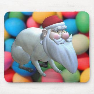 Santa Bunny Mouse Pad