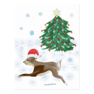 Santa Bunny Postcard