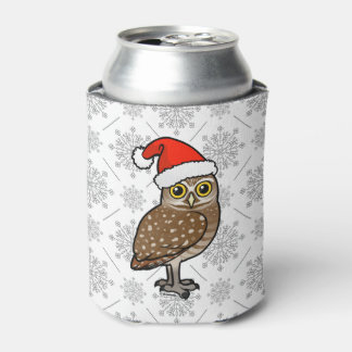 Santa Burrowing Owl Can Cooler