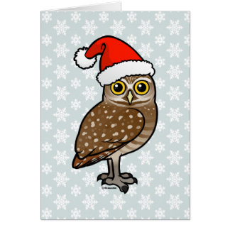Santa Burrowing Owl Card