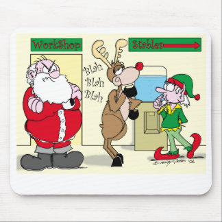 Santa busting employees at the North Pole Mousepad