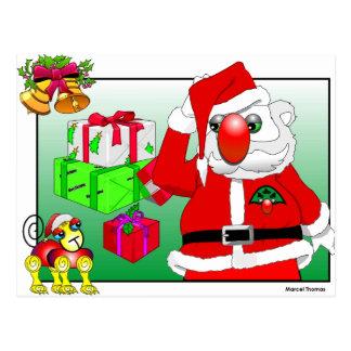 Santa by Marcel Thomas Postcard