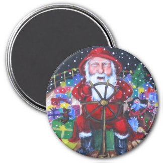 Santa By Sea Magnet