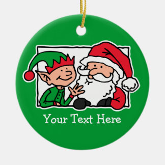 Santa, Can We Talk Ceramic Ornament