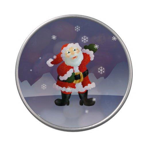Santa Candy Tins