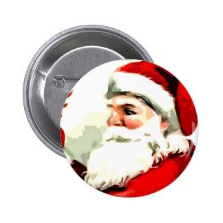 Santa Cane Pinback Button
