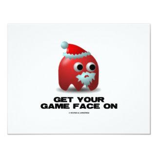 """Santa (cara virtual del juego) invitación 4.25"""" x 5.5"""""""