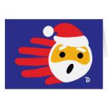 Hand shaped Santa card