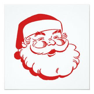 "Santa Card 5.25"" Square Invitation Card"