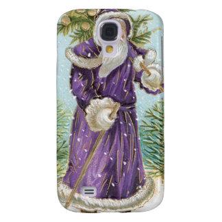 Santa carrying a Christmas Tree Galaxy S4 Case