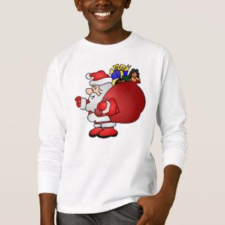 Santa Carrying Bag of Toys T-Shirt