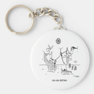 Santa Cartoon 6193 Keychain