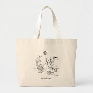 Santa Cartoon 6193 Large Tote Bag