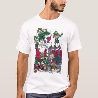 Santa Cartoon Elves On Strike!!! T-Shirt