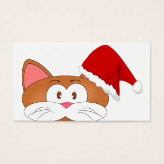 Santa Cat Business Card
