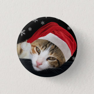 Santa Cat Button / Badge