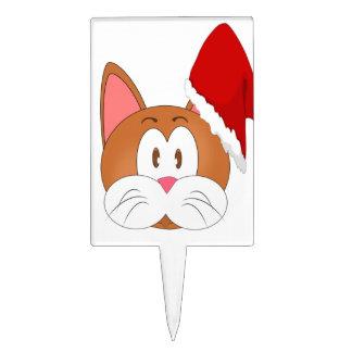 Santa Cat Cake Topper