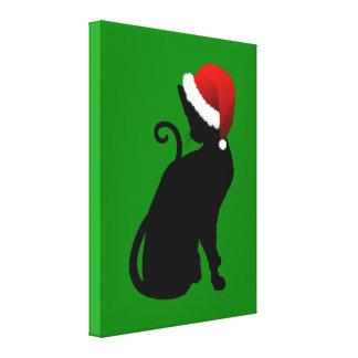 Santa Cat Canvas Print