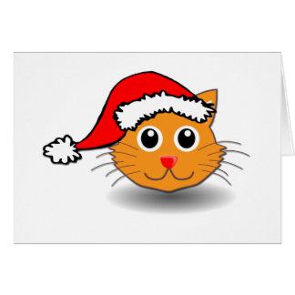 Santa Cat Card