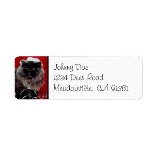 Santa Cat Christmas Avery Label