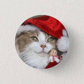 Santa cat - christmas cat - cute kittens button