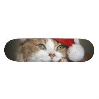 Santa cat - christmas cat - cute kittens skateboard deck