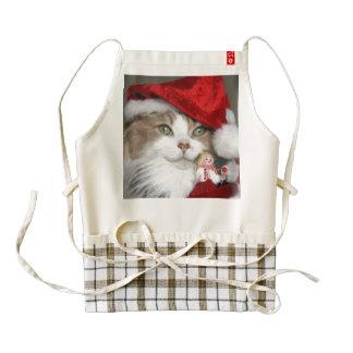 Santa cat - christmas cat - cute kittens zazzle HEART apron