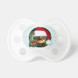 Santa Cat Christmas Pacifier
