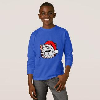 Santa Cat Kids' Basic Long Sleeve T-Shirt