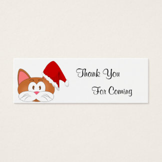 Santa Cat Mini Business Card