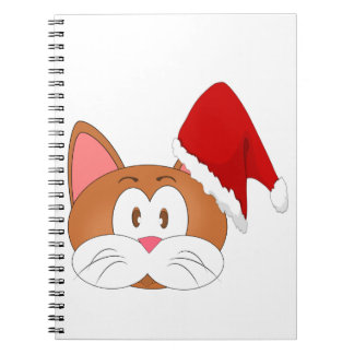 Santa Cat Notebook