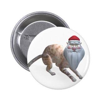 Santa Cat Pinback Button