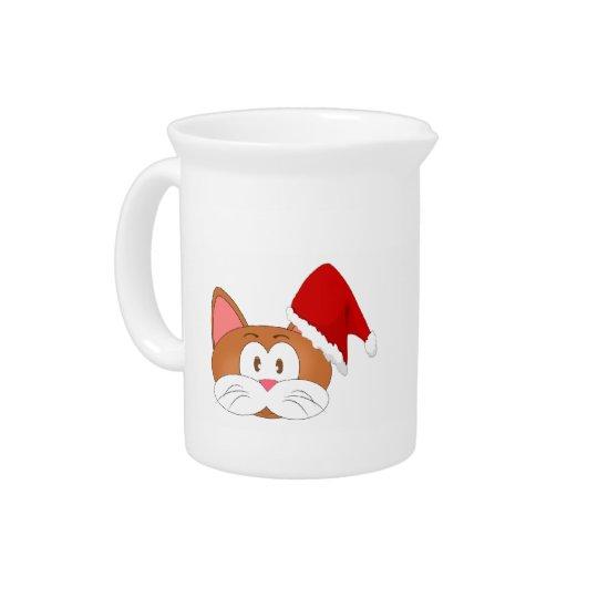 Santa Cat Pitcher