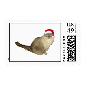 Santa cat postage