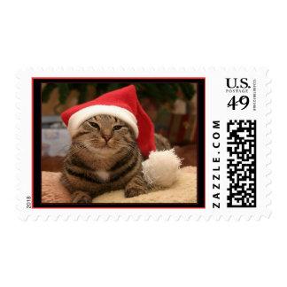 """Santa Cat"" Postage"