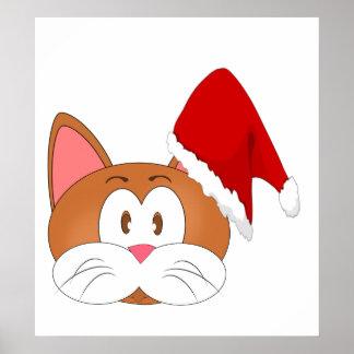 Santa Cat Poster