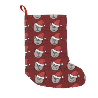Santa Cat Small Christmas Stocking