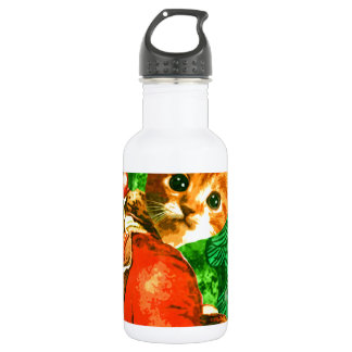 Santa Cat Stainless Steel Water Bottle