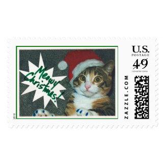 Santa Cat Stamps