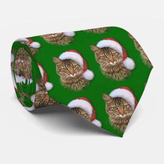 Santa Cat Tie