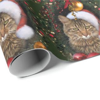 Santa Cat Wrapping Paper