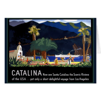 Santa Catalina California Card