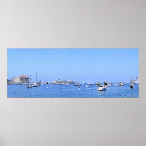 Santa Catalina Island Ocean Panorama Poster