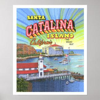 Santa Catalina Poster w/Border 14 x 17