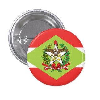 Santa Catarina, botón brasileño de la bandera del Pin Redondo De 1 Pulgada