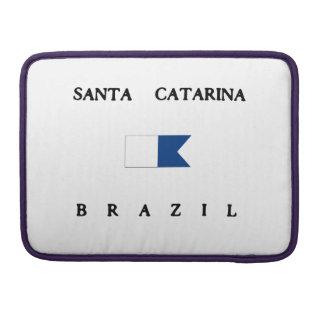 Santa Catarina Brazil Alpha Dive Flag MacBook Pro Sleeves