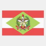 Santa Catarina, pegatinas brasileños de la bandera Pegatina Rectangular