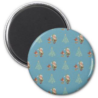 Santa Caught Eating Cookies Magnet